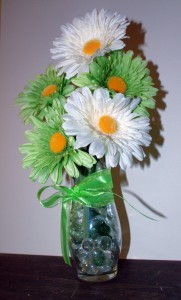 Use this beautiful Spring flower arrangement to accent you beautiful Irish decor