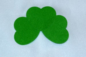 Rearrange hearts until desired shamrock design is achieved.