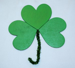 Beautiful Wooden Shamrock to be use as a pin, prop or decoration