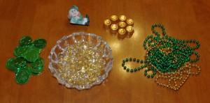 Simple St. Pat's Day Leprechaun Treasure Bowl Supplies