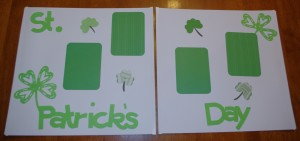 Simple St. Patrick's Day Scrapbook Layout