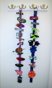 Hair Supply Organization Barrettes on Belts