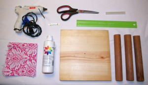 Simple DIY Hiar Tie & Bracelet Organizer Supplies