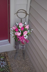 Metal Man's Pretty Pink Tulip Bouquet