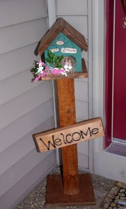 Pretty pInk Tulip Decor in Our Home Tweet Home Bird stand