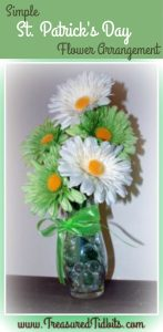 Simple Spring/St. Patrick's Day FLower Arrangement How-To