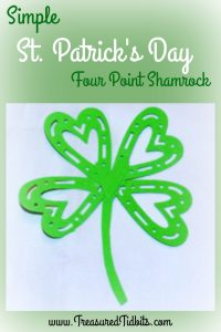 Fun 4 Point Shamrock to make at home in minutes