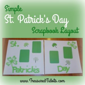 St Patrick's Day Scrapbook Layout Square