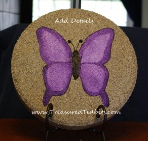 Handpainted Stepping Stone How-To Add Details