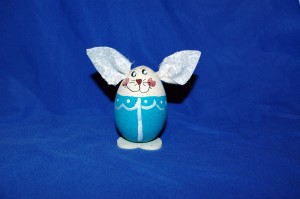 Aqua Handpainted Bunny