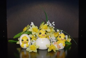 Easter Decor Ducklings