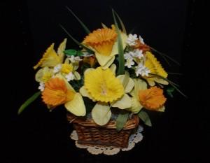 Handmade Easter Daffodil Basket