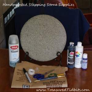 Handpainted Stepping Stone How-To Supplies