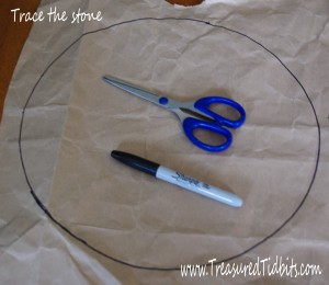 Handpainted Stepping Stone How-To Trace the Stone Shape