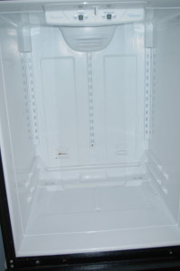 Our empty, clean refrigerator