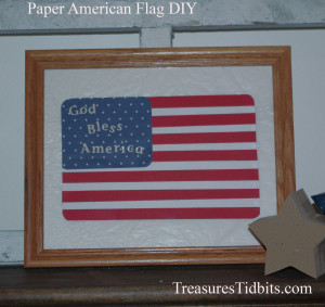 Paper American Flag Decorating Small Spaces