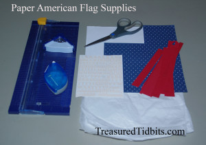 Paper Flag Supplies for a Small Decorating