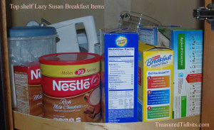 Top Shelf Lazy Susan After Breakfast items