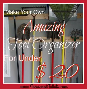 Make Your Own Amazing Yard Tool Organizer For Under $20