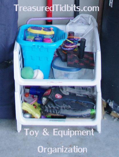 Outdoor Toy & Equipment Organization