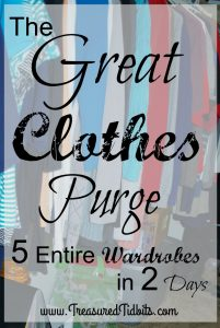 The Great Clothes Purge Pinterest