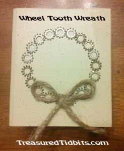 JOY Block Wheel Tooth Wreath