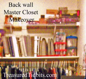 Back Wall Master Closet Makeover