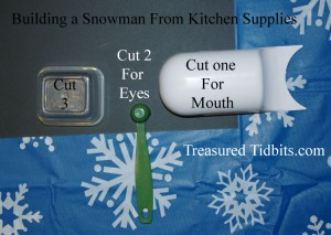 Building a Snowman Using Kitchen Supplies
