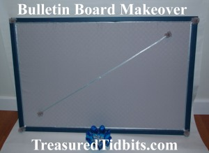 Bulletin Board Makeover After