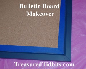 Bulletin Board Makeover Paint Prep