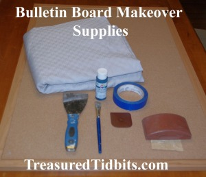 Bulletin Board Makeover Supplies