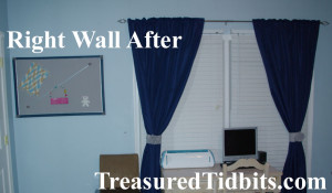 Master Bedroom Makeover Left Wall After