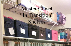 Master Closet In Transition Shelves