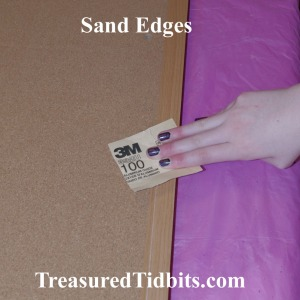 Sand Bulletin Board Edges