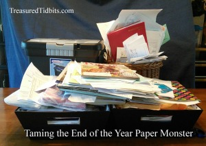 Taming The end of the year paper monster