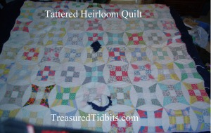 Tattered Heirloom Quilt-Memories Created with Love