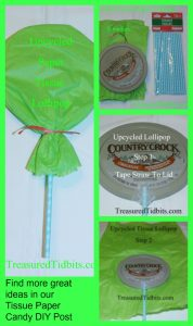 Tissue Paper Lollipop How-To