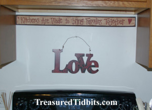 Kitchen Valentine Decor