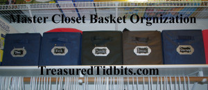 Master CLoset Organization Makeover Baskets 2