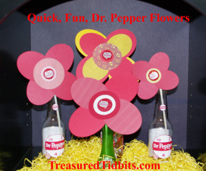 Quick, Fun Dr. Pepper FLowers
