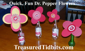 Quick, Fun Dr. Pepper Flowers (table)