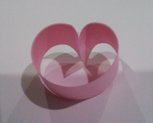 Step 2 Tape Easy Heart Project