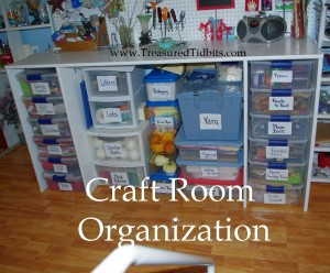 Craft Room Organization Under the Counter