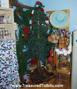 Tree and Wreath Corner Craft Room Reveal