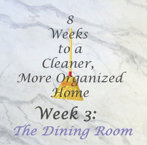 8 Weeks to a Cleaner More Organized Home week 3 The Dining Room