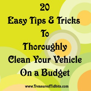 20 Easy Tips & Tricks to Clean Your Vehicle on a Budget