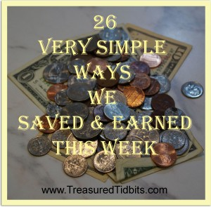 26 Very Simple Ways We Saved & Earned This Week
