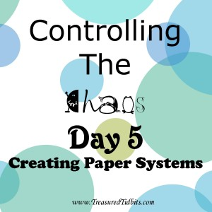 COntrolling the Chaos Day 5 Create Paper Systems