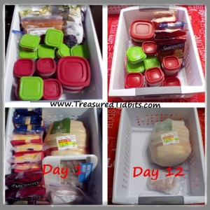 Fruit, Cheese and Chicken Baskets Day 1 & Day 12