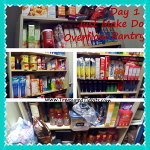 Just Make Do Overflow Pantry Day 1
